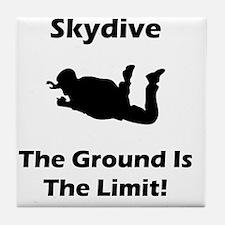 Dry Skydive Ground Limit Black Tile Coaster