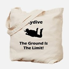 Dry Skydive Ground Limit Black Tote Bag