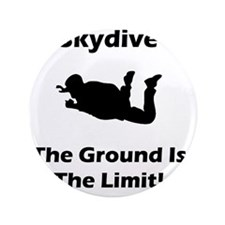 """Dry Skydive Ground Limit Black 3.5"""" Button"""