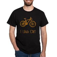 Dry Mountain Bike Dirt Brown T-Shirt