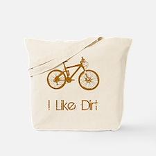 Dry Mountain Bike Dirt Brown Tote Bag