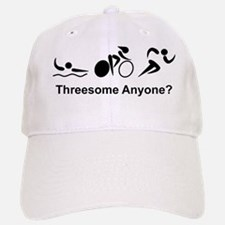 Dry Triathlon Threesome Black Baseball Baseball Cap