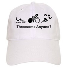 Dry Triathlon Threesome Black Baseball Cap