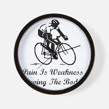Dry Pain Is Weakness Black Wall Clock