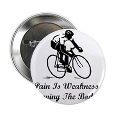 """Dry Pain Is Weakness Black 2.25"""" Button"""
