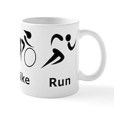 Dry Swim Bike Run Black Mug