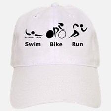 Dry Swim Bike Run Black Baseball Baseball Cap