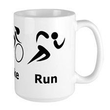 Dry Swim Bike Run Black Mug