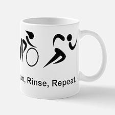 Dry Triathlon Rinse Repeat Black Mug