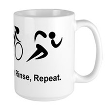 Dry Triathlon Rinse Repeat Black Mug