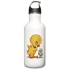 Duck and Flower Sports Water Bottle