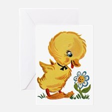 Duck and Flower Greeting Card
