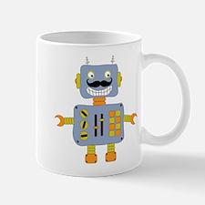 Mobot Moustache Robot Mug