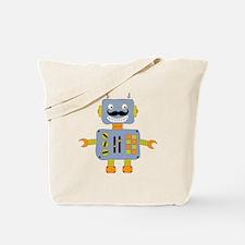 Mobot Moustache Robot Tote Bag