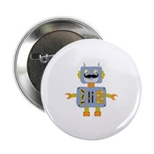 "Mobot Moustache Robot 2.25"" Button"