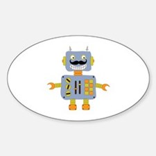 Mobot Moustache Robot Decal