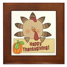 Happy Thanksgiving1 Framed Tile