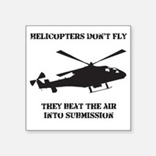 "Dry Helicopter Submission B Square Sticker 3"" x 3"""