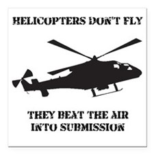 "Dry Helicopter Submissio Square Car Magnet 3"" x 3"""