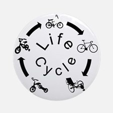 life Cycle3 Round Ornament