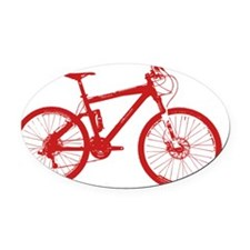 Dry Mountain Bike Red Oval Car Magnet