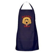 Doodle Love Curly Apricot Apron (dark)
