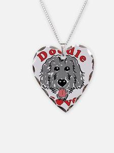 Doodle Love Black Necklace