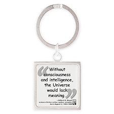 Simak Universe Quote Square Keychain