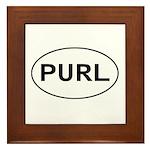 Knitting - Purl Framed Tile