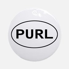 Knitting - Purl Ornament (Round)