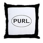 Knitting - Purl Throw Pillow