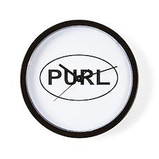 Knitting - Purl Wall Clock