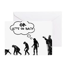 go back1 Greeting Card