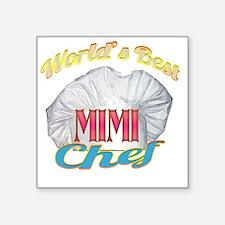 """Worlds Best Mimi / Chef Square Sticker 3"""" x 3"""""""