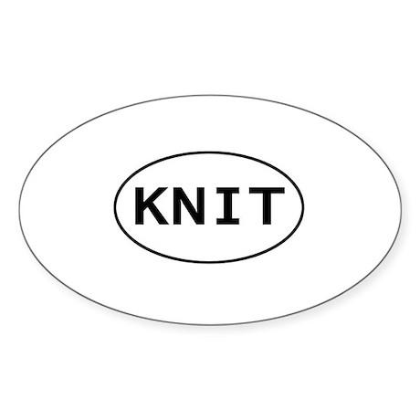 KNIT Oval Sticker