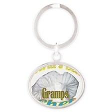 WORLDS BEST GRAMPS / CHEF Oval Keychain