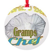 WORLDS BEST GRAMPS / CHEF Ornament