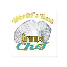 """WORLDS BEST GRAMPS / CHEF Square Sticker 3"""" x 3"""""""