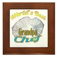 WORLDS BEST GRANDPA / CHEF Framed Tile