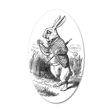 rabbit 35x21 Oval Wall Decal