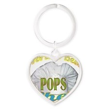 WORLDS BEST POPS / CHEF Heart Keychain