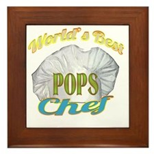 WORLDS BEST POPS / CHEF Framed Tile
