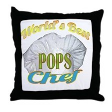 WORLDS BEST POPS / CHEF Throw Pillow