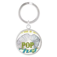 WORLDS BEST POP / CHEF Round Keychain