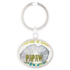 WORLDS BEST PAPAW  CHEF Oval Keychain