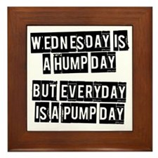 wednesday-is-a-hump-day Framed Tile