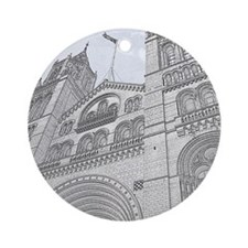 Museum Poster Round Ornament