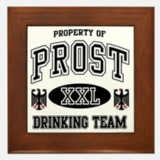 Prost German Drinking Team Framed Tile