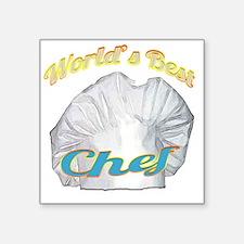 """WORLDS BEST CHEF Square Sticker 3"""" x 3"""""""