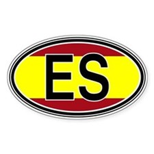 Spain Euro Oval Decal